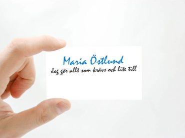 Vad står det på ditt visitkort?